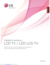 LG 19LD34 Series Owner's Manual