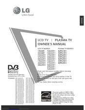 LG 37LG20 Series Owner's Manual