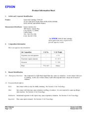 Epson R200 - Stylus Photo Color Inkjet Printer Product Information Sheet