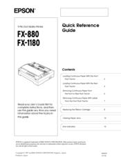 Epson FX-1180 Impact Printer Status Monitor Driver for PC