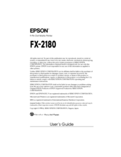EPSON FX-2180 IMPACT NETWORK PRINTER TREIBER WINDOWS 7