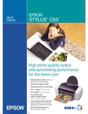 Epson Stylus C63 Specifications