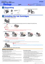 Epson Stylus C63 Install Manual