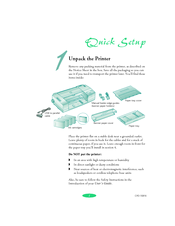 Epson Stylus COLOR 3000 Quick Setup Manual