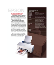 Epson Stylus Color 640 Specifications