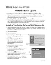 Epson Stylus Color 777i Printer Windows 7