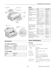 Epson Stylus Color 900 Product Information Manual