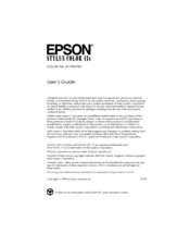 Epson Stylus Color Stylus Color IIs User Manual