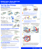 Epson 1280 - Stylus Photo Color Inkjet Printer Start Here