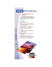 Epson 1280 - Stylus Photo Color Inkjet Printer Brochure & Specs