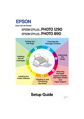 Epson Stylus Photo 890 Setup Manual