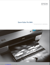 Epson 3880 - Stylus Pro Color Inkjet Printer Brochure & Specs