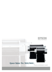 Epson 9800 - Stylus Pro Color Inkjet Printer Quick Reference Manual
