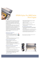 Epson 9800 - Stylus Pro Color Inkjet Printer Brochure