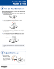 Epson PowerLite 1725 Quick Setup Manual