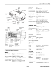 Epson 830p - PowerLite XGA LCD Projector User Manual