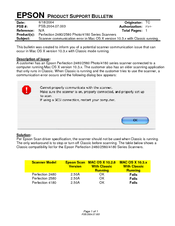 Epson 2580 - Perfection PHOTO Product Support Bulletin