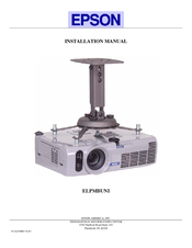 Epson 830p - PowerLite XGA LCD Projector Installation Manual
