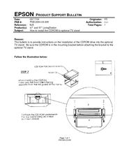 Epson Livingstation LS47P1 Product Support Bulletin