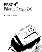 Epson Priority Fax 2000 Owner's Manual