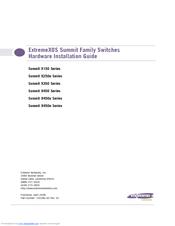 Extreme Networks Summit X450e-48p Hardware Installation Manual