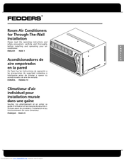 Fedders A6U14W7B Operating Instructions Manual