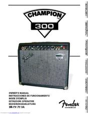fender champion 30 dsp manual