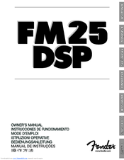 Fender FM25DSP Owner's Manual
