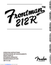 Download free pdf for fender frontman 212r amp manual.