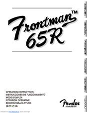 Fender Frontman 65R Manuals on