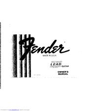 fender lead ii manuals