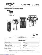fetco cbs32a user manual - Fetco