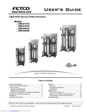 fetco cbs52h15 user manual - Fetco
