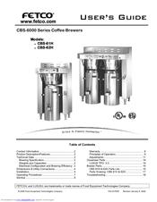 fetco cbs62h user manual - Fetco