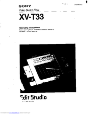 Sony XV-T33 - Video Sketch Titler Operating Instructions Manual