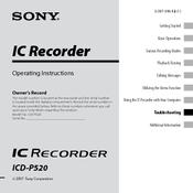 sony icd p520 digital voice recorder manuals rh manualslib com sony icd-p520 voice recorder manual sony icd-p520 manuel