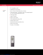 sony voice recorder icd px312 manual