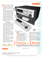 fostex d 824 manuals rh manualslib com Online User Guide Quick Reference Guide