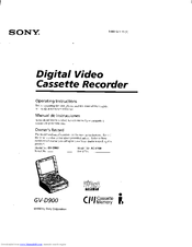 sony 900e. manuals and user guides for sony gv-900e - video walkman. we have 1 gv- 900e walkman manual available free pdf download: operating 900e
