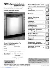 frigidaire pld2855rfc 24 built in dishwasher manuals rh manualslib com frigidaire gallery series dishwasher troubleshooting frigidaire professional series dishwasher troubleshooting