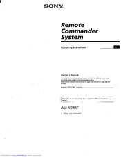 Sony RM-X69RF Operating Instructions Manual