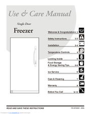 frigidaire plfu1778es0 use care manual pdf download rh manualslib com frigidaire upright freezer owners manual frigidaire freezer owners manual