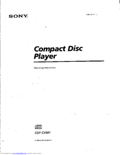 Sony CDP-CX681 - 200 Disc Cd Changer Operating Instructions Manual
