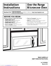 Frigidaire Ffmv164ls Installation Instructions Manual