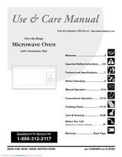 Frigidaire Fmv157gc Microwave Manuals