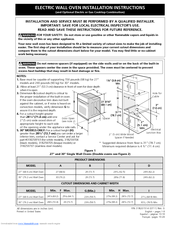 Frigidaire FEB30S5DC - Electric Wall Oven Install Manual