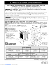 Frigidaire FEB27T6CSA Guide Installation Instructions Manual