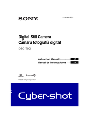 Sony DSC-T900 Cyber-shot&reg Instruction Manual