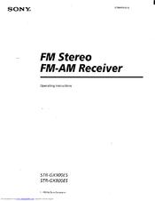 Sony str-gx900es manual fm stereo / fm-am receiver hifi engine.