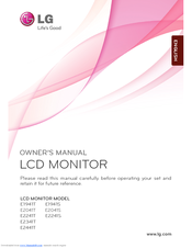 LG E1941S-BN Owner's Manual